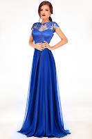 rochie albastra lunga 1