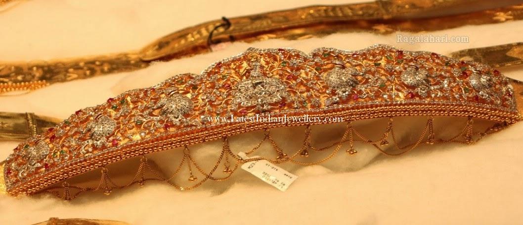 Gold Vaddanam Designs Manepally Jewellers