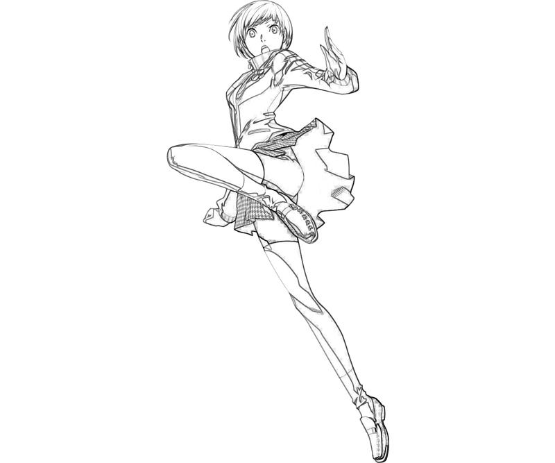 persona-4-arena-chie-satonaka-ability-coloring-pages