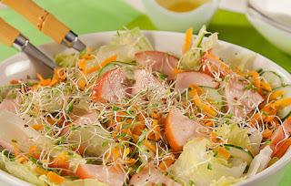 #receita de #salada de #peito de #peru #defumado