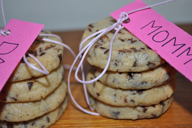 Überraschungs Cookies für Mommy and daddy, Kekse, Chocolate Chips, Keksstapel