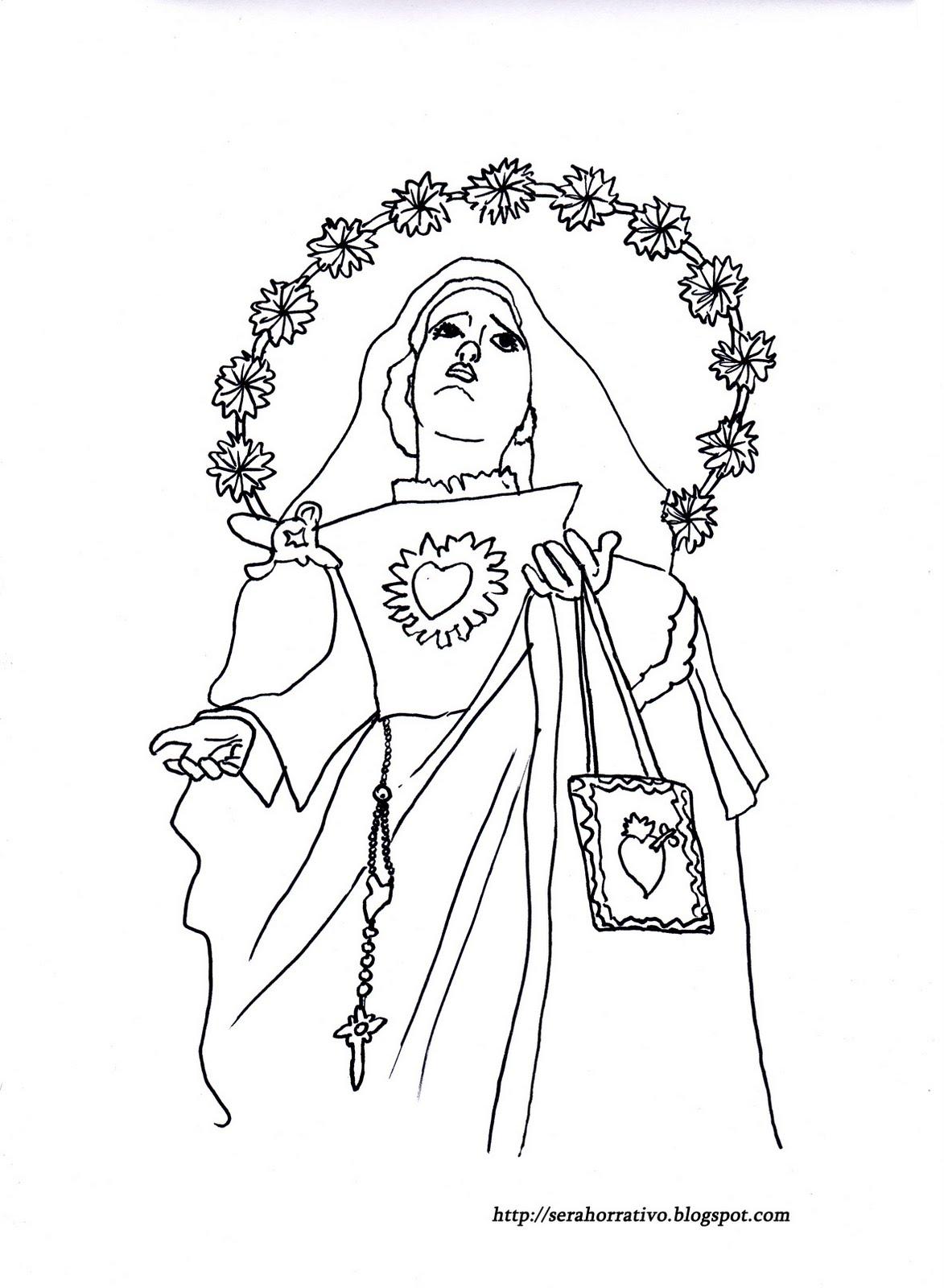 Ser ahorrativo: Dibujos para colorear de la Semana Santa de Málaga