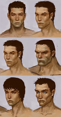 character concept art face style