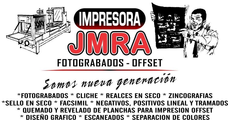 Impresora JMRA FOTOGRABADOS (CLICHE)