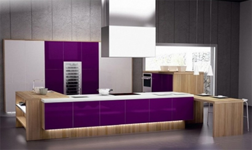 Purple Interior Designs Kitchen Interior Car Led Lights