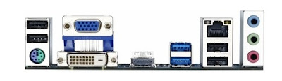Gigabyte GA-78LMT back panel image for google