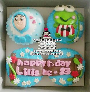 Cupcake 2D Keroppi Daerah Surabaya - Sidoarjo