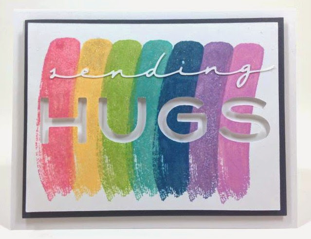 Cricut Sending Hugs card