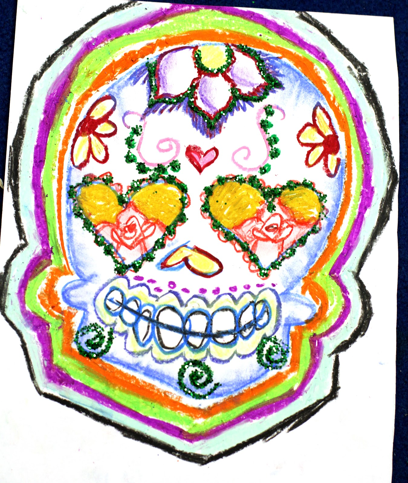 how to draw a sugar skull step by step