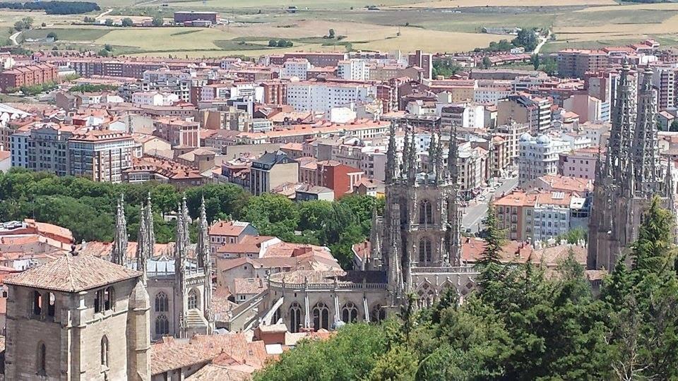 vue de Burgos, cathédrale santa maria