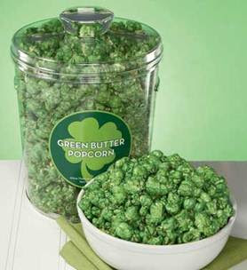 Green Butter Popcorn