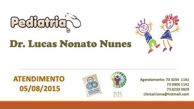 PEDIATRA  : ATENDIMENTO DIA 05/08/2015