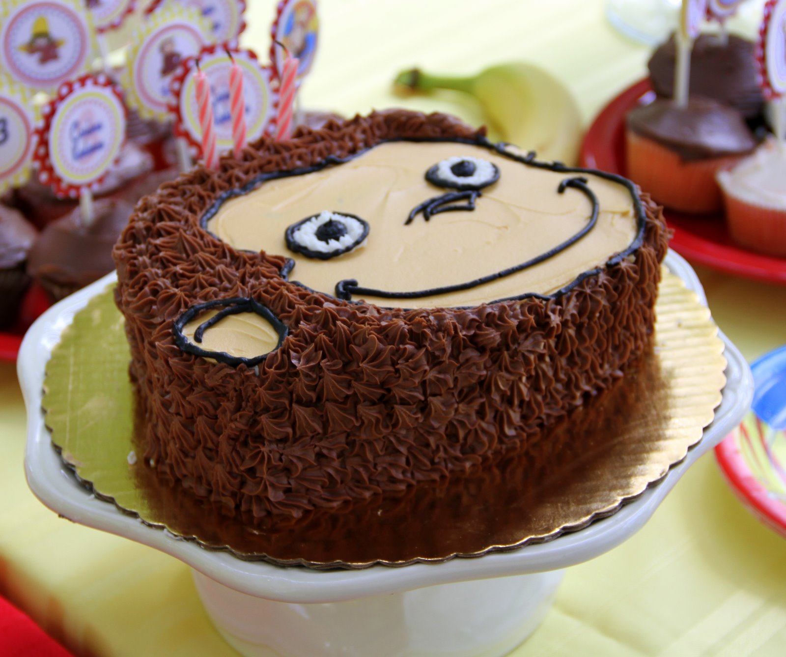 Local Cake Artist : A Little Loveliness: Curious George Birthday Party