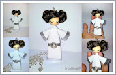 Doll brooch Princess Leia. Stars Wars