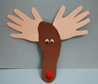 http://www.allkidsnetwork.com/crafts/animals/handprint-reindeer.asp