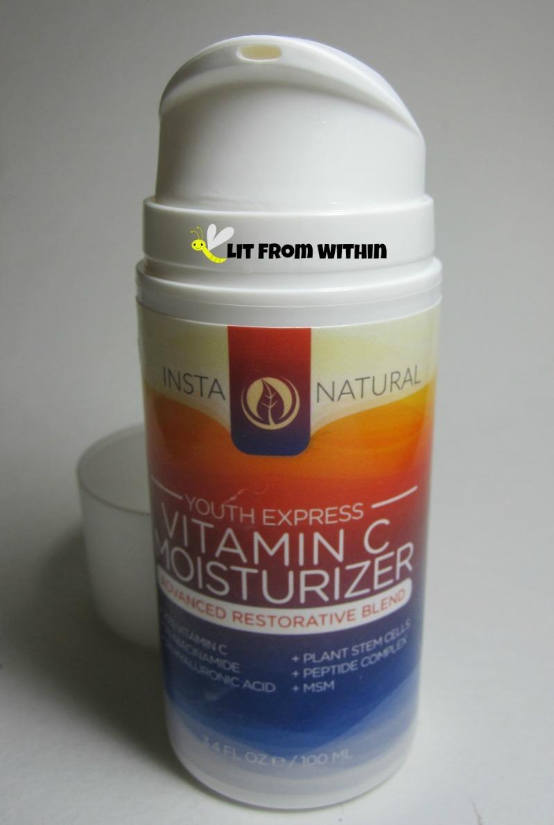 InstaNatural Youth Express Vitamin C Moisturizer pump packaging