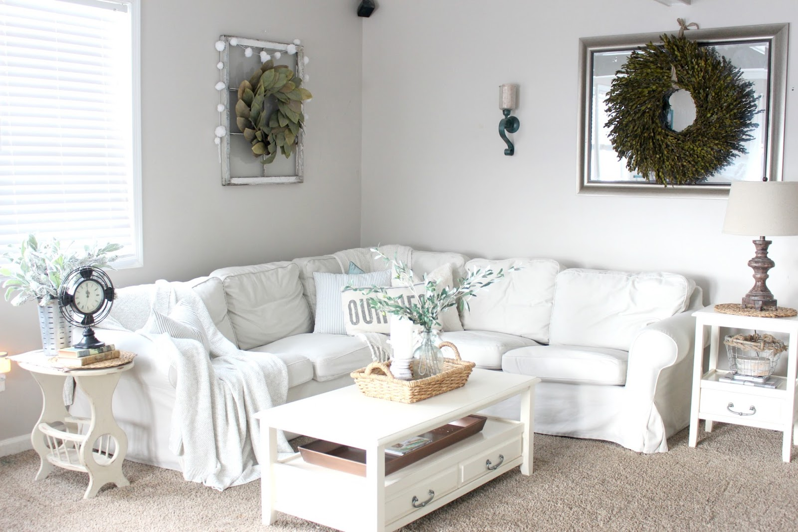 The Glam Farmhouse Living Room Tour - The Glam Farmhouse
