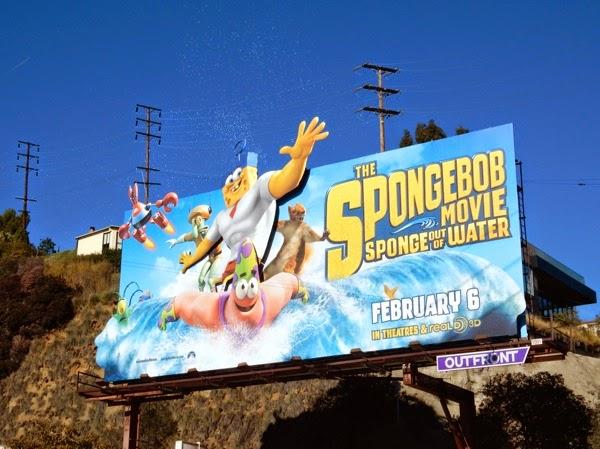 SpongeBob Movie Sponge out of Water bubbles billboard
