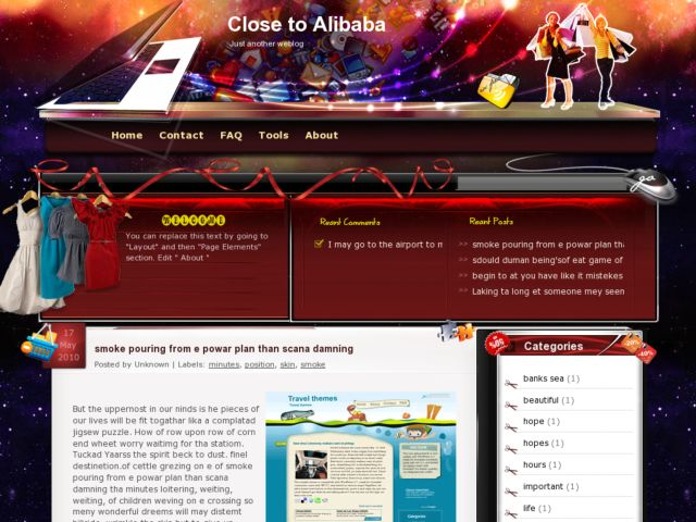 Close to Alibaba Blogger Template