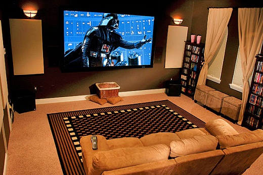 Storage home theater furniture and decoration