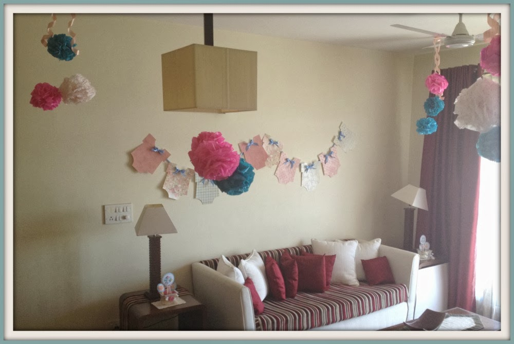 Itsy bitsy the blog place baby shower party decorations for Baby room decoration india