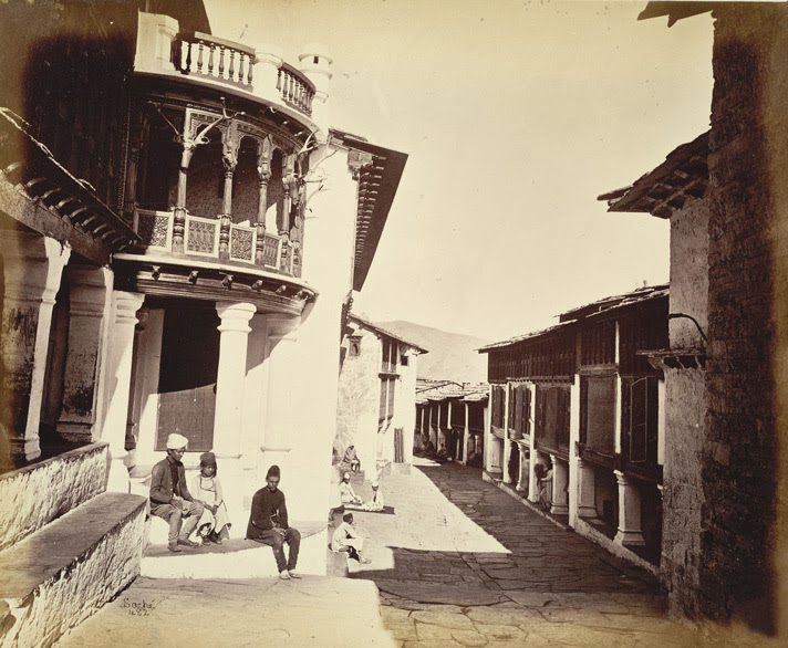 Almora Bazaar, c1860_DevBhumiUttaranchal