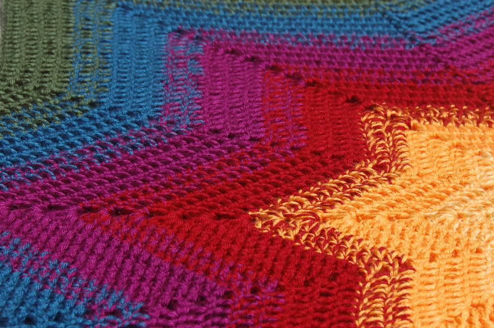 Growing Is Beautiful Star Colors A Crochet Blanket