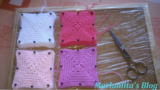 mantita bebé granny square, ganchillo, crochey