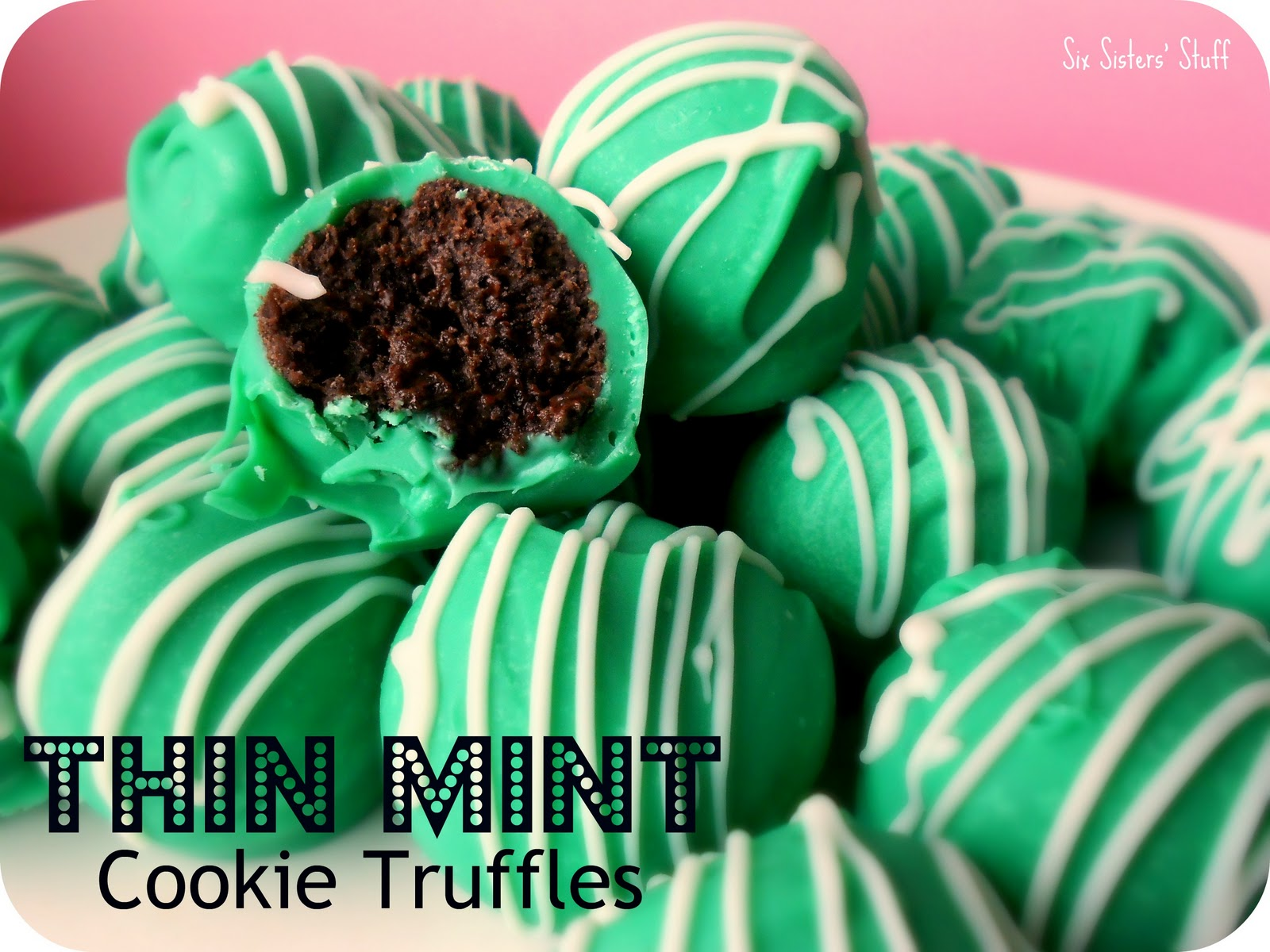 No-Bake Thin Mint Cookie Truffles Recipe | Six Sisters' Stuff