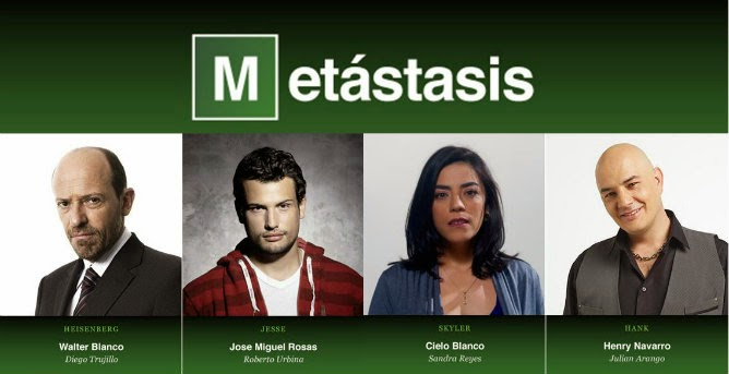 reparto de Metastasis, adaptación de Breaking bad