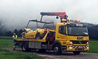 funny pics supercar car accident