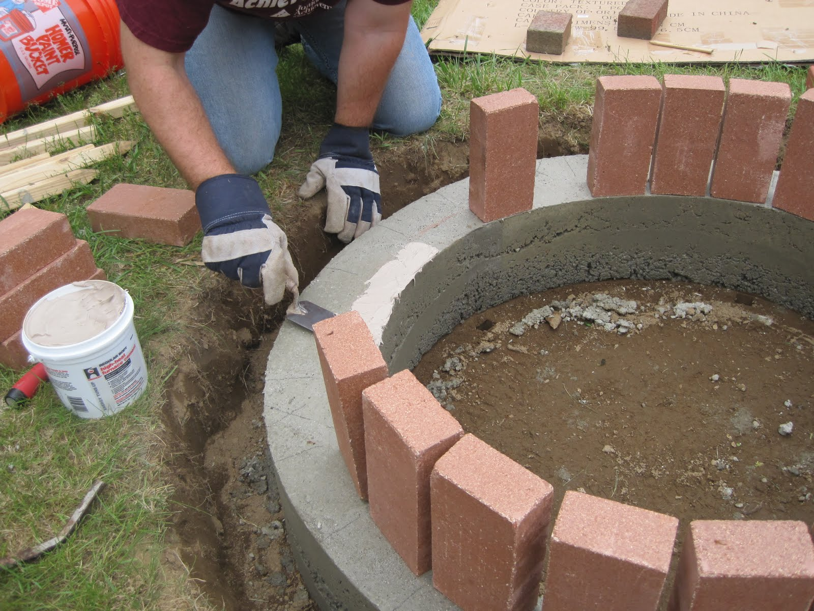 Refractory Mortar Home Depot : Jemstaa the fire pit project day