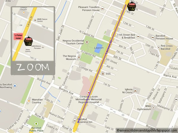 Calea Pastries and Coffee Map - Bacolod