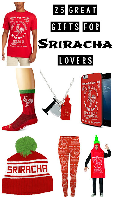 25 Great Gifts for Sriracha Lovers {Christmas gift guide, Sriracha Gifts}