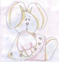 desenho de coelha