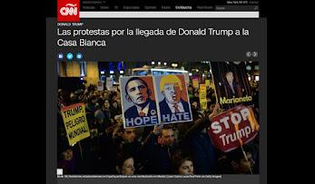 Las protestas también le dan la bienvenida a la era Trump