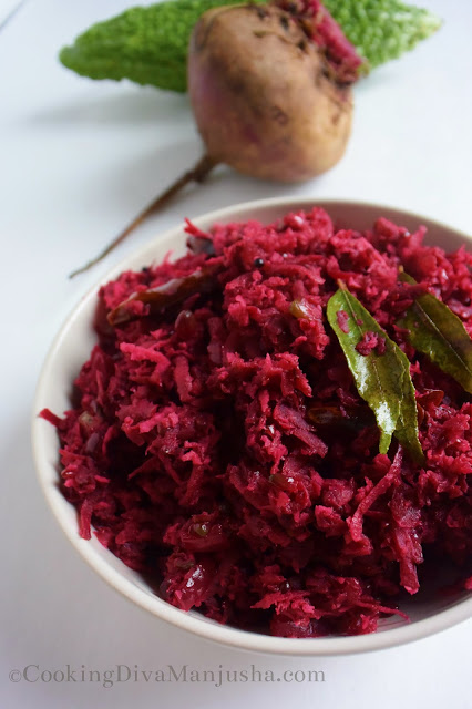 pavakka-thoran-beetroot-thoran-recipe