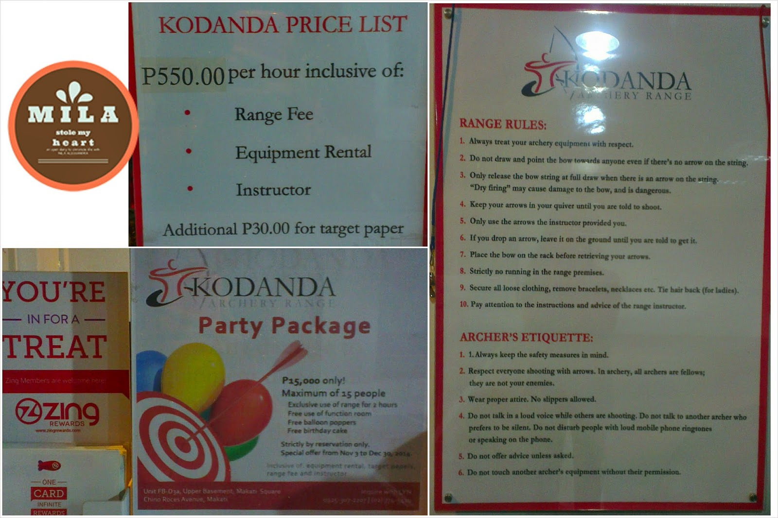 Kodanda Archery Range Range Rule Price List