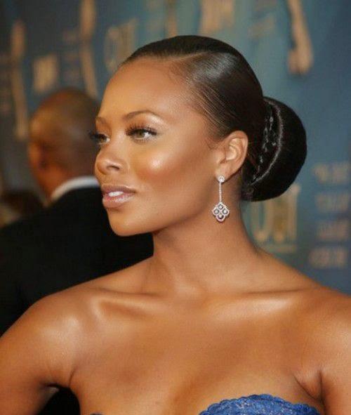 Classy Women Black Hairstyles Buns 2015