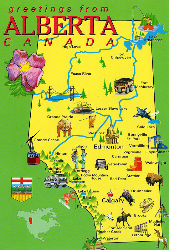 My Postcrossing Collection Alberta Map Canada