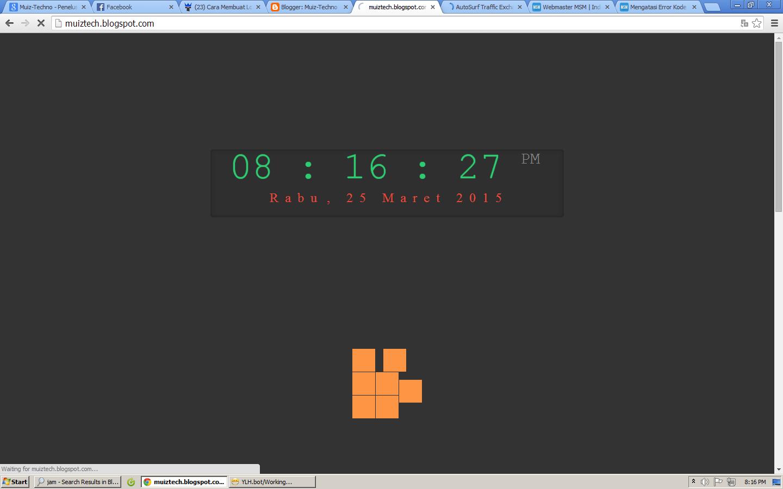 Membuat loading jam di blog dengan java script Muiz-Techno