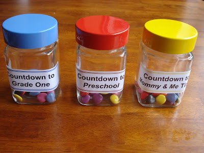 Countdown jar for school