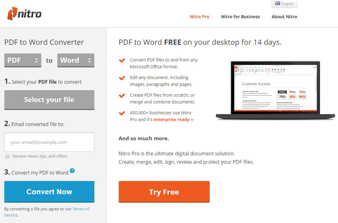 免費線上轉檔網站推薦:Nitro,PDF 轉 Word (.doc)、PDF 轉 PPT、PDF 轉 Excel