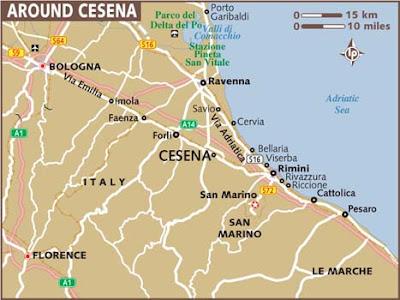 Mappa politica di Cesena