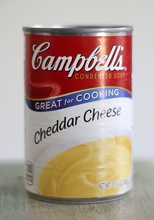cheddar cheese soup can