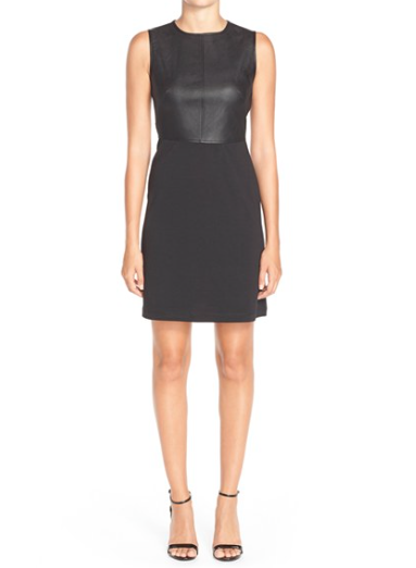 Gabby Skye Mixed Media Sheath Dress