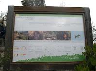 Plafó informatiu del sender de Taradell al cim del Turó de l'Enclusa