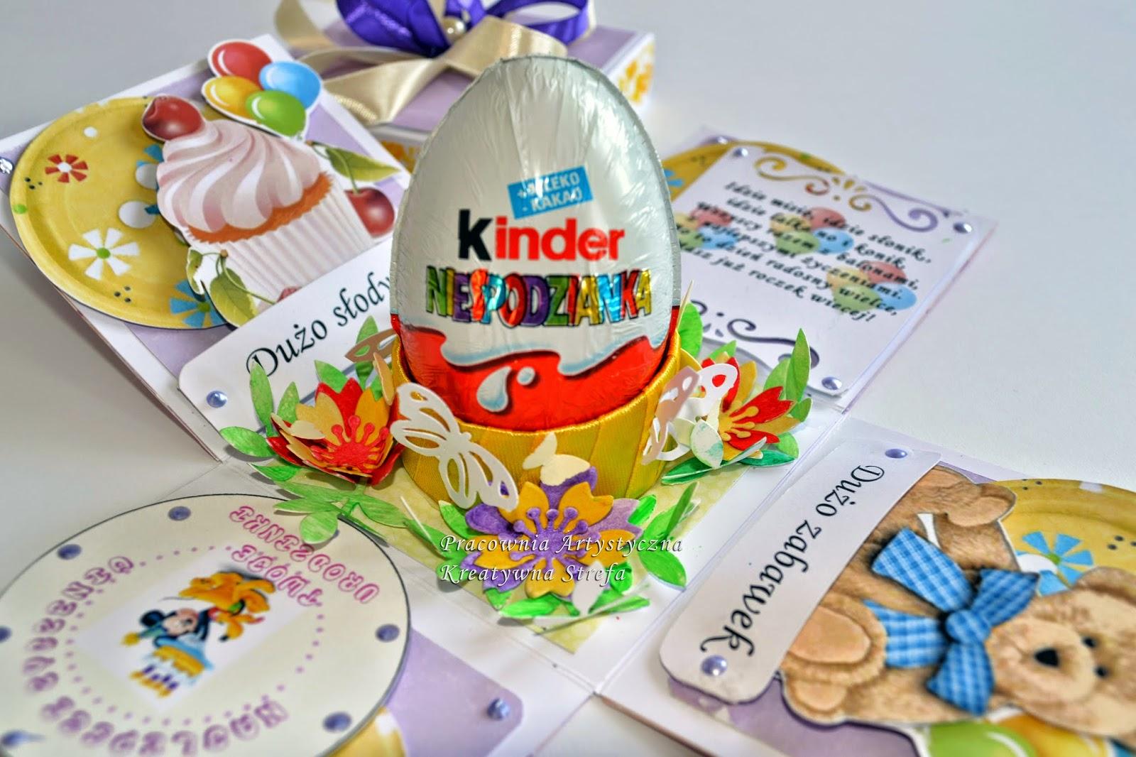 Kolorowe pudełko dla dziecka z okazji urodzin