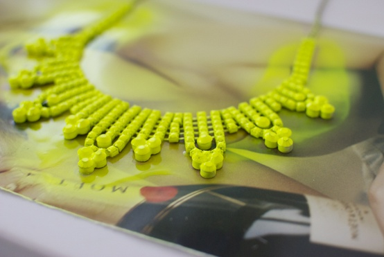 Mint, DIY Neon Necklace