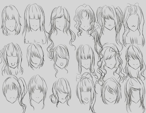 arte parte tipos de cabelos
